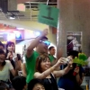 [1] Michael's fans. They are all in GREEN!